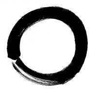 Енсо. Символизира просветление, сила, елегантност, необятност, празнота.